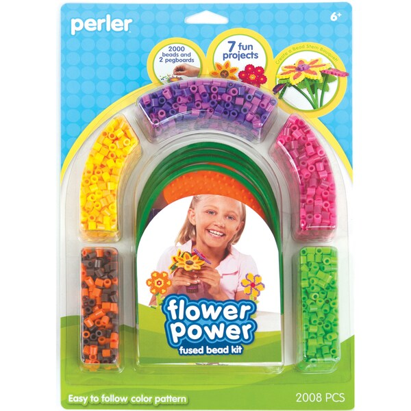 Perler Fun Fusion Fuse Bead Activity Kit-Flower Bouquet