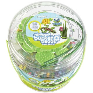 Perler Fun Fusion Fuse Bead Activity Bucket-Rainforest