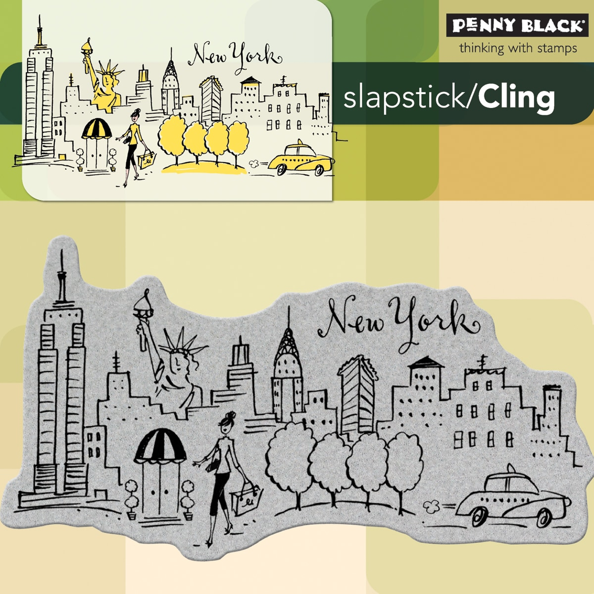 Penny Black 'New York' Cling Rubber Stamp