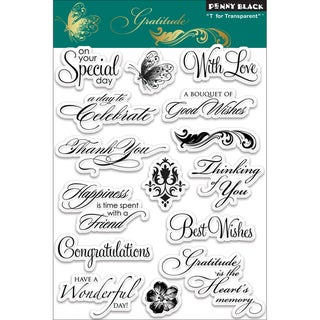 Penny Black 'Gratitude' Clear Stamps