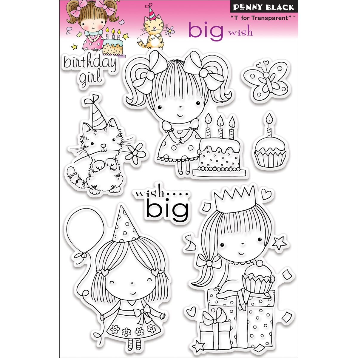 Penny Black 'Big Wish' Clear Stamps