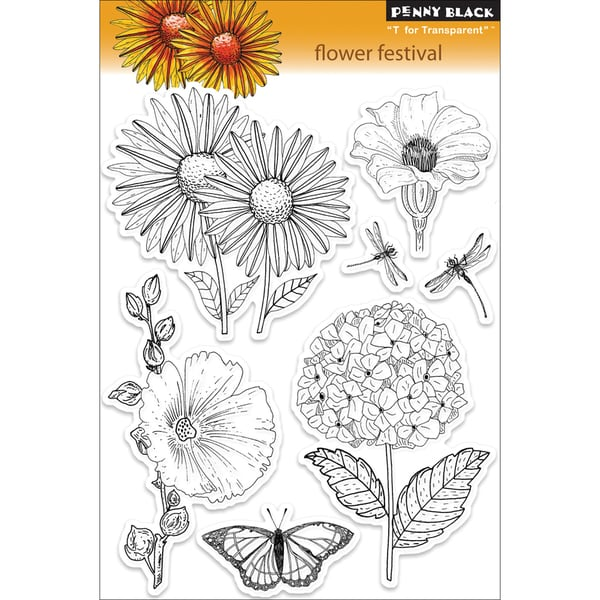Penny Black 'Flower Festival' Clear Stamps