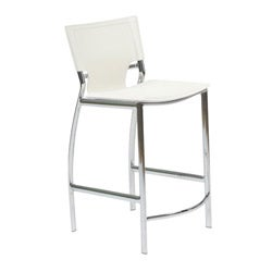 Euro Style White Counter Chair (Set of Two)