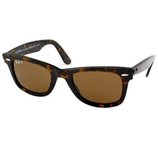 Ray-Ban Unisex RB2140 Original Wayfarer 902/57 Tortoise Polarized Sunglasses