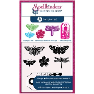 Spellbinders Stamp & Die Set-Cling - Butterflies
