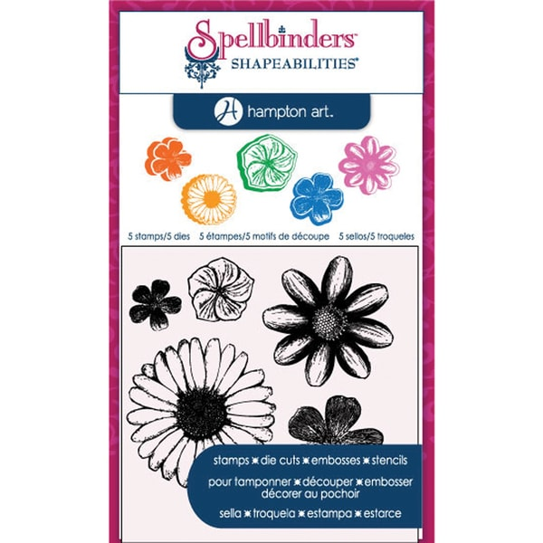 Spellbinders Stamp & Die Set-Cling - Flowers