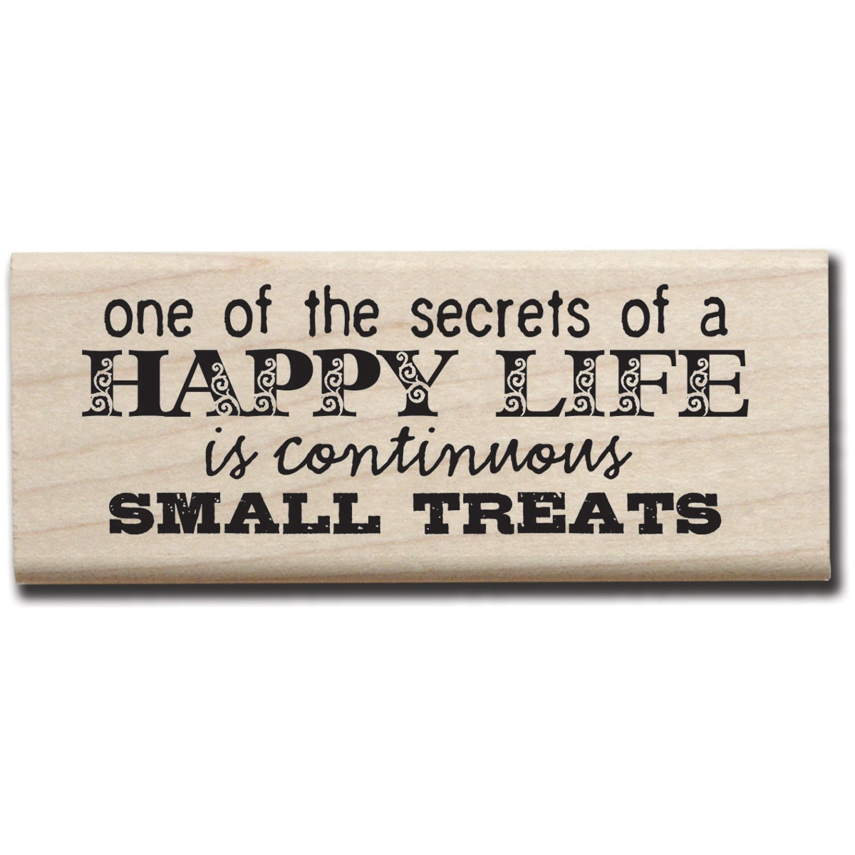 "Mounted Rubber Stamp 2.5""X3.5""-Continuous Small Treats"
