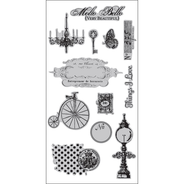"7 Gypsies Cling Stamps 4""X9"" Sheet-Molto Bello"
