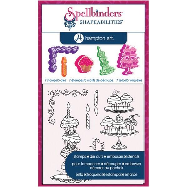 Spellbinders Stamp & Die Set-Clear - Cupcakes