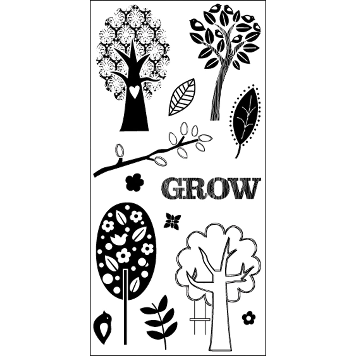 "Art Warehouse Clear Stamps 4""X9"" Sheet-Tree"