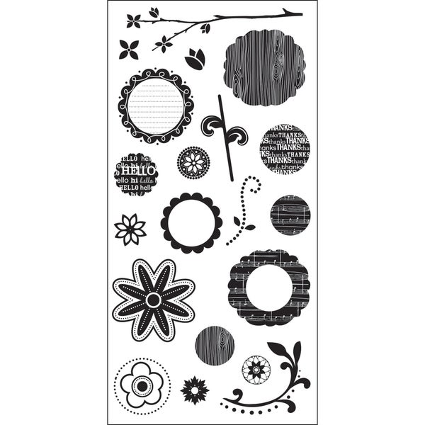 """Art Warehouse Clear Stamps 4""""X9"""" Sheet-Flower Parts"""