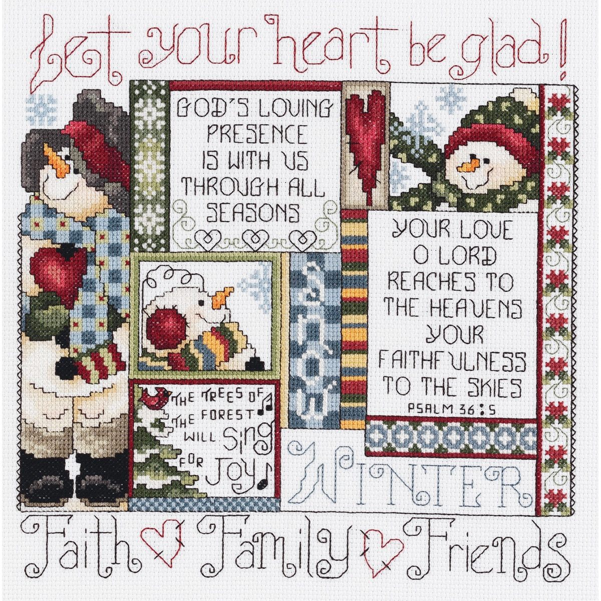 "JANLYNN Winter Counted Cross Stitch Kit-9-1/4""X9-1/4"" 14 Count at Sears.com"