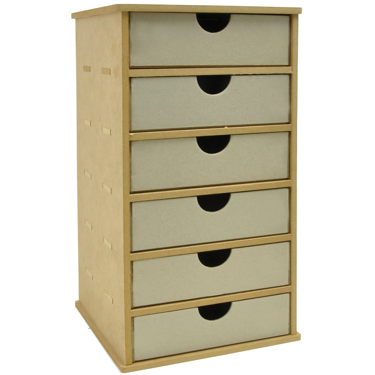 "Beyond The Page MDF Tower Storage With 6 Chipboard Drawers-7""X7.25""X13.5"" (180MM X 185MM X 345MM)"