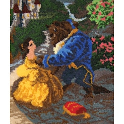"Latch Hook Kit 21""X26""-Beauty & The Beast Falling In Love"