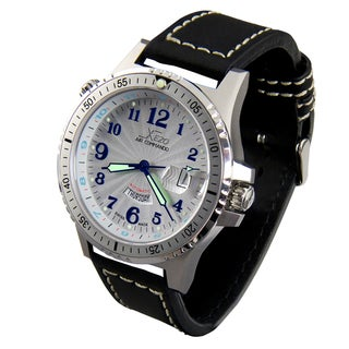 Xezo Men's Air Commando Swiss Automatic 2nd Time Zone Diver Watch