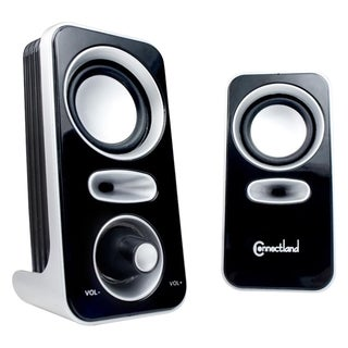 Connectland CL-SPK20116 2.0 Speaker System - 6 W RMS - Silver, Black