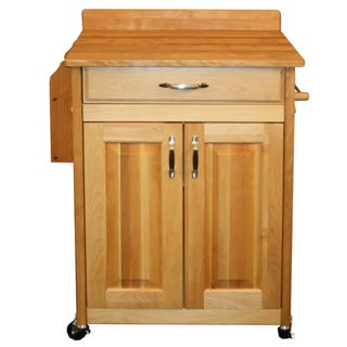 Catskill Craftsman Deluxe Butcher Block Cart with Backsplash