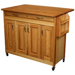 Catskill Craftsman Butcher Block Drop Leaf Kitchen Island