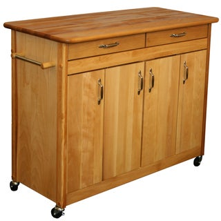 Catskill Craftsman Butcher Block Kitchen Island with Towel Bar