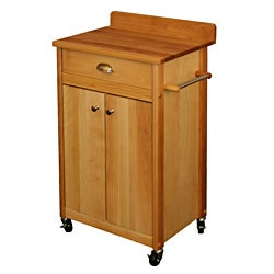 Catskill Craftsman Butcher Block Backsplash Movable Cart