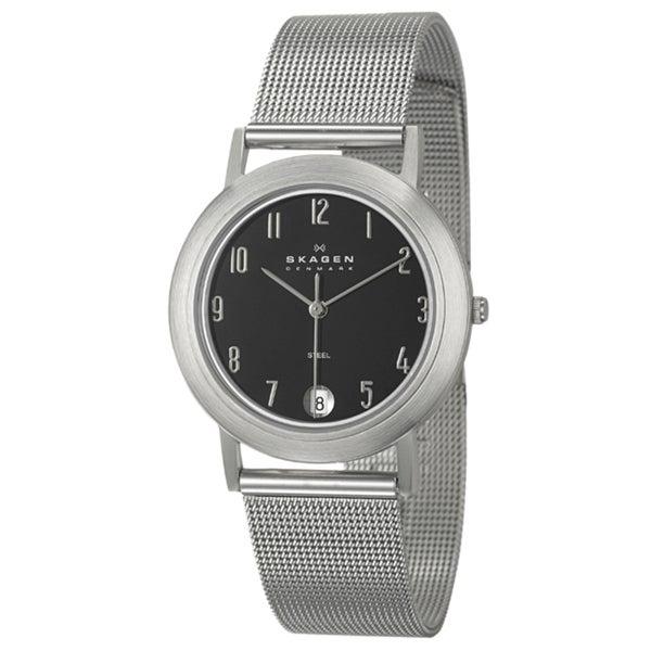Skagen Men's Stainless Steel Bezel Mesh Watch