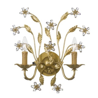 Paris Flea 2-light Gold Leaf Wall Sconce