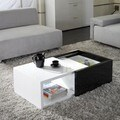 Matrix Karla High-gloss Hide-away Storage Coffee Table