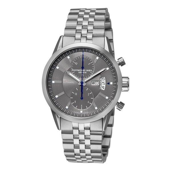 Raymond Weil Men's 'Freelancer' Grey Chronograph Dial Watch