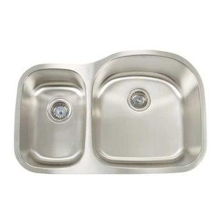 Artisan premium series undermount shallow deep double bowl kitchen sink overstock shopping for Shallow undermount bathroom sink