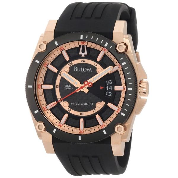 Bulova Men's Champlain Precisionist Black Carbon Fiber Dial Watch