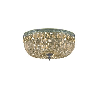 'Richmond' 3-light Antique Gold Flush Light Fixture
