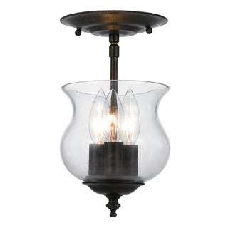 Ascott 3 light English Bronze Semi-flush Light Fixture