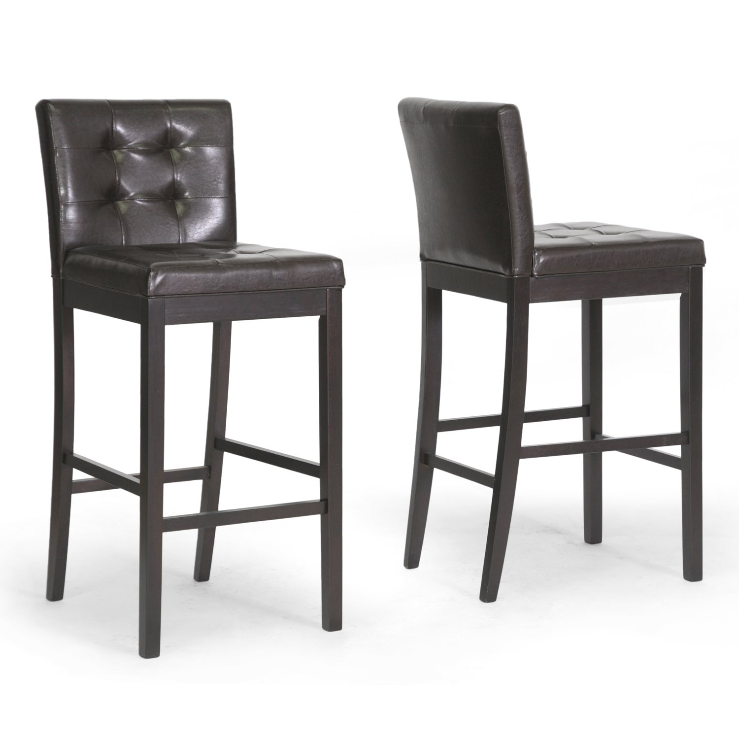 Baxton Studio Prospect Brown Modern Bar Stool (Set of 2)