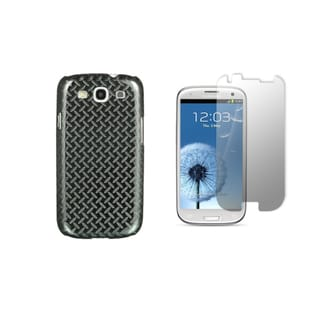 Diamond Tread Designer Luxury Case and Screen Protector for the Samsung Galaxy S III (I9300)