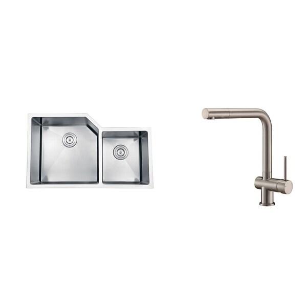 Ruvati Stainless Steel Kitchen Sink/ Brushed Nickel Faucet Set