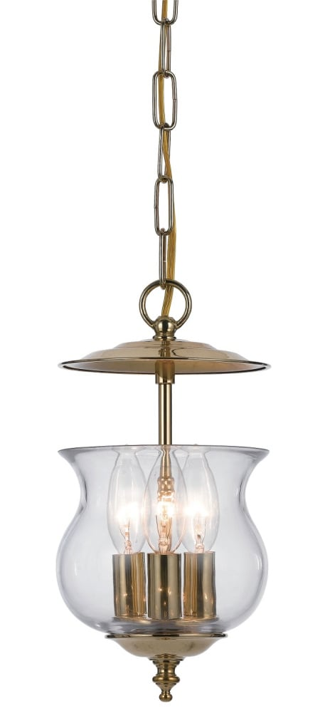 Ascott 3-light Polished Brass Pendant