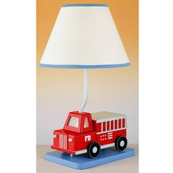 Cal Lighting Fire Engine Youth Table Lamp
