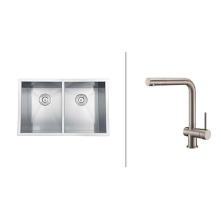 Ruvati Stainless Steel Kitchen Sink/ Brushed Nickel Faucet Set