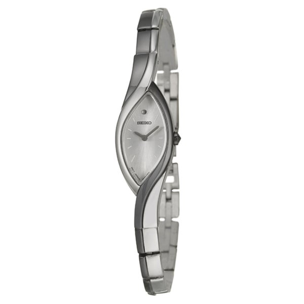 Seiko Women's 'Bracelet' Stainless Steel and Grey Ion Plated Watch