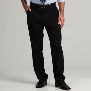 Oxford Republic Men's Black Tonal Weave Suit Separates Pant