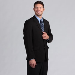 Oxford Republic Men's Black Tonal Weave Suit Separates Coat