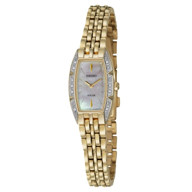 Seiko Women's 'Solar' Goldtone Stainless Steel Watch