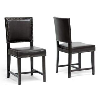 Baxton Studio Nottingham Brown Modern Dining Chair (Set of 2)