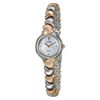 Seiko Women's 'Solar' Rose Goldtone Stainless Steel Watch