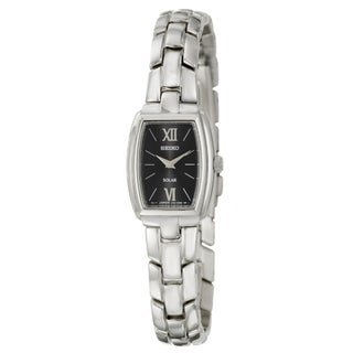 Seiko Women's 'Solar' Silvertone Stainless Steel Watch