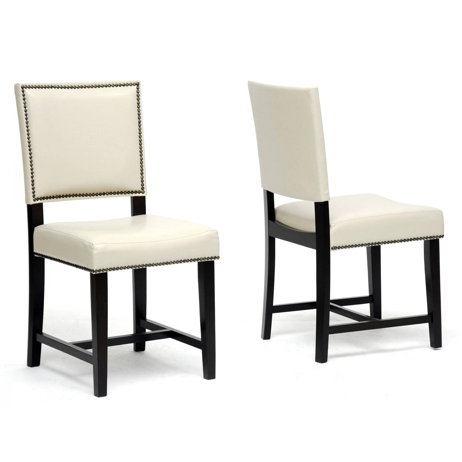 Baxton studio dining chairs overstock shopping the best prices online - Modern leather dining room chairs ...