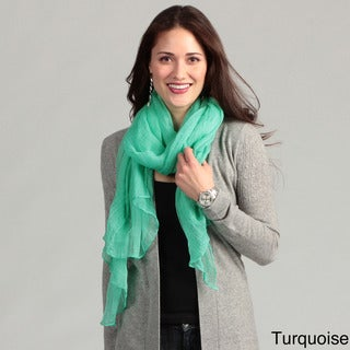 KC Signatures Women's Solid Cotton Gauze Scarf