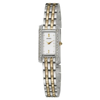 Seiko Women's 'Bracelet' Stainless Steel and Yellow Goldplated Watch