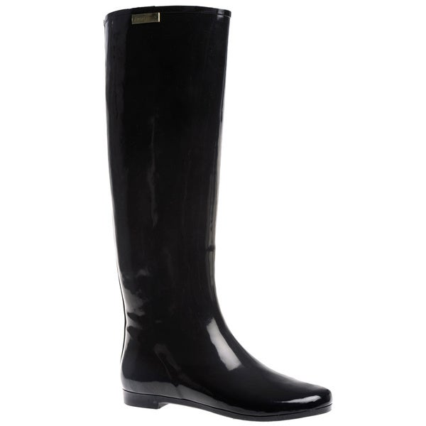 Henry Ferrera Women's 'Colorado' Solid Knee High Rubber Rain boot