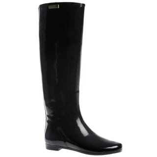 Henry Ferrera Women's 'Colorado' Solid Knee High Rubber Rain boot